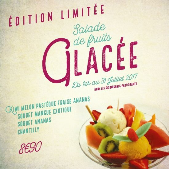 Salade de fruits glacée