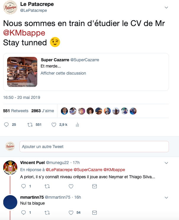 Buzz Twitter Patacrêpe/Mbappé