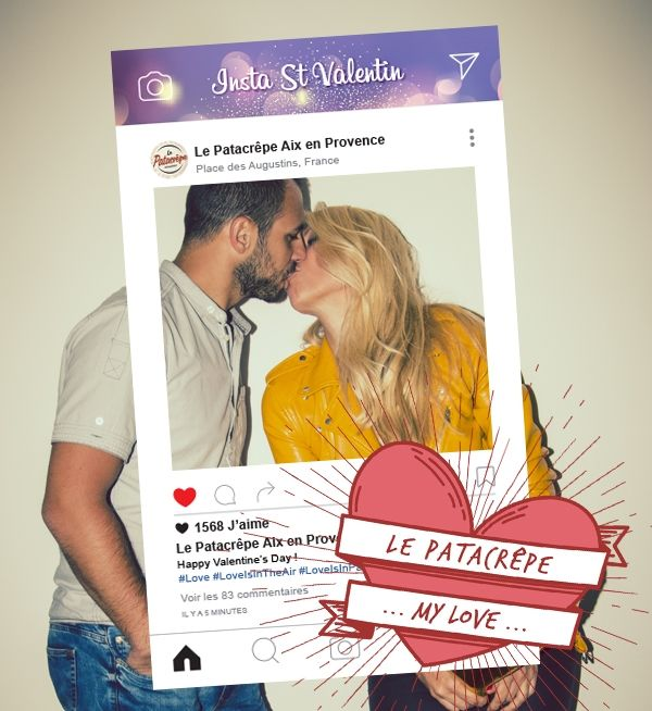 Photobooth selfie instagram Le Patacrêpe